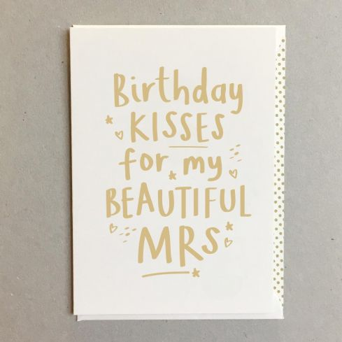Megan Claire Greetings Cards - Beautiful Mrs Birthday Card